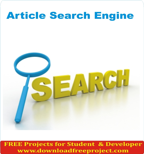Free Article Search Engine In PHP Projects Download