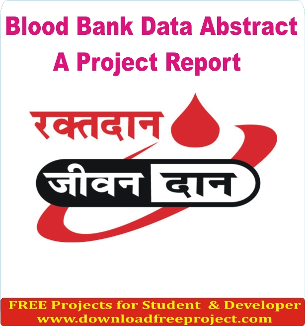Free Blood Bank Data System In PHP Projects Download