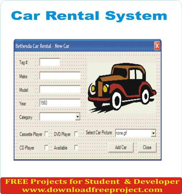Free Car Rental System In Asp.Net Projects Download