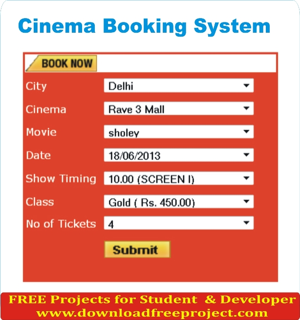 Free Cinema Booking System In PHP Projects Download