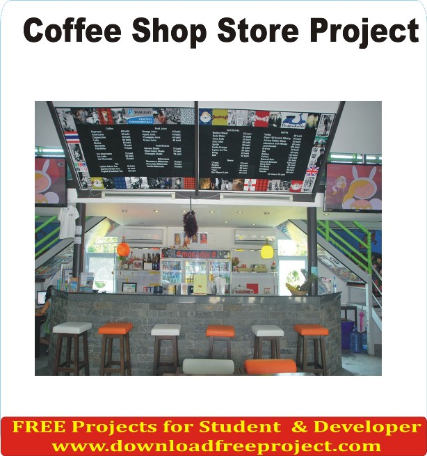Free Coffee Shop Store Project In Asp.Net Projects Download