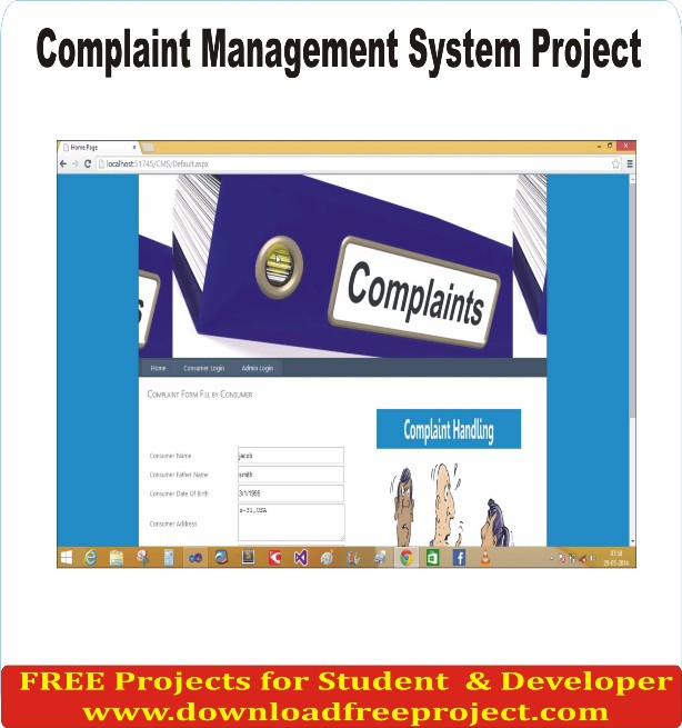 Free Complaint management system In PHP Projects Download