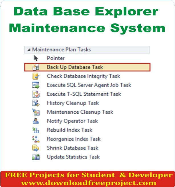 Free Data Base Explorer Maintenance System In Java Projects Download