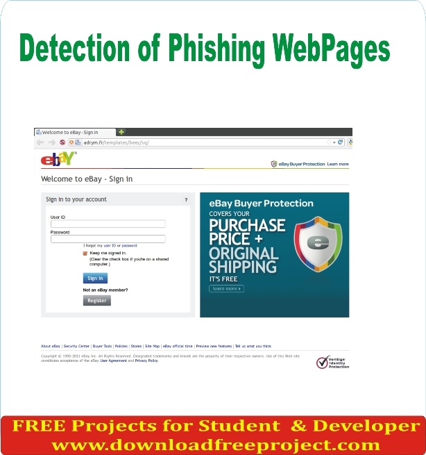 Free Detection of Phishing Web Pages In PHP Projects Download