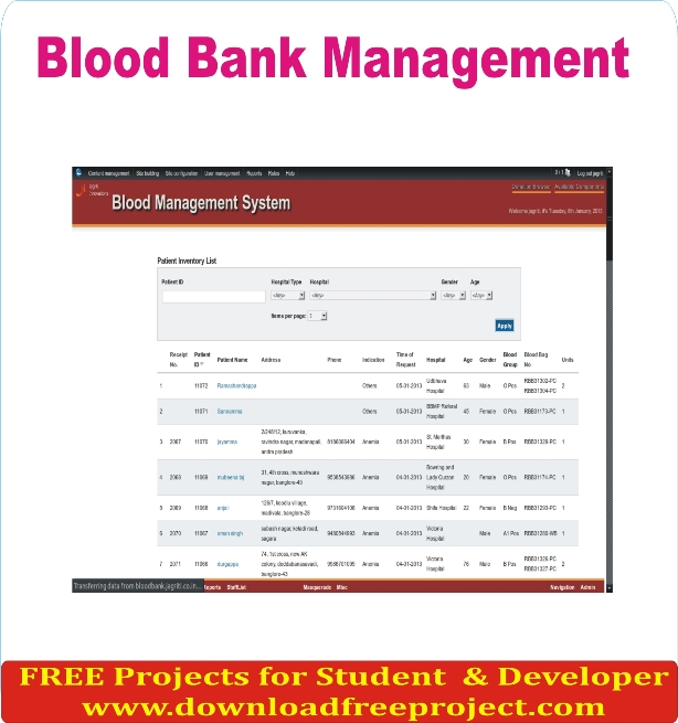 Free E Blood Donation Forum Project In PHP Projects Download
