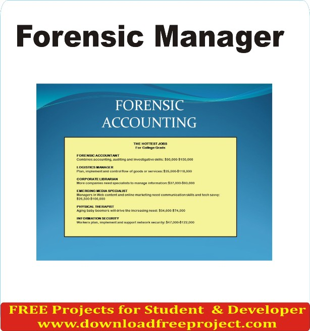 Free Forensic Manager In Java Projects Download