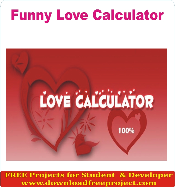 Free Funny Love Calculator In PHP Projects Download