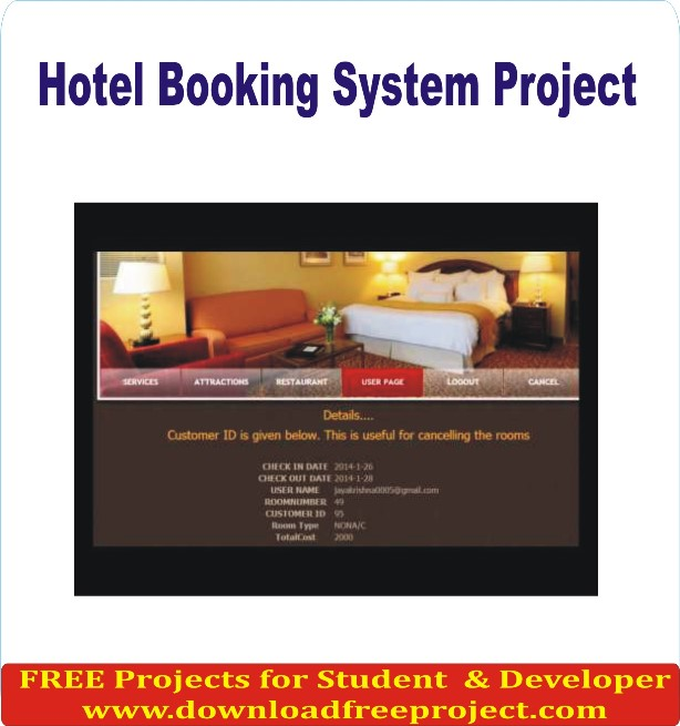 Free Hotel booking system In PHP Projects Download