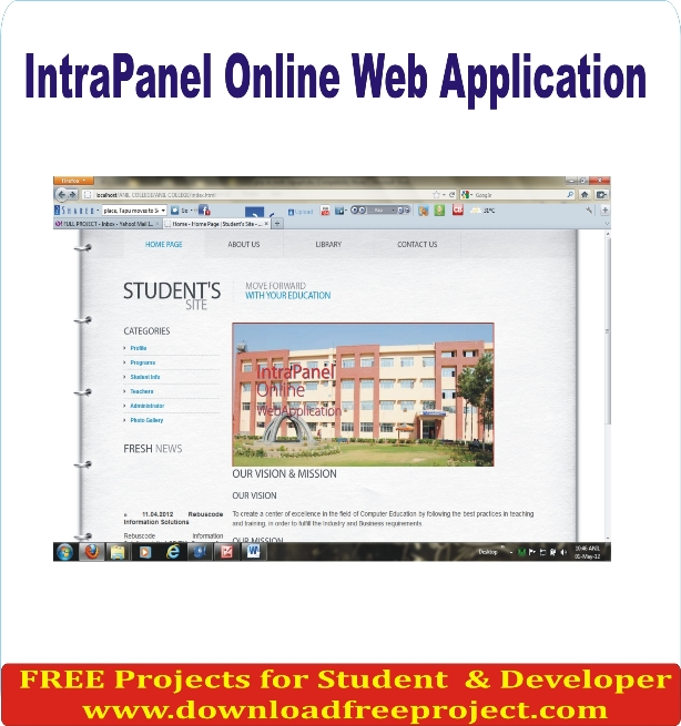 Free Intra Panel Online Web Application In PHP Projects Download