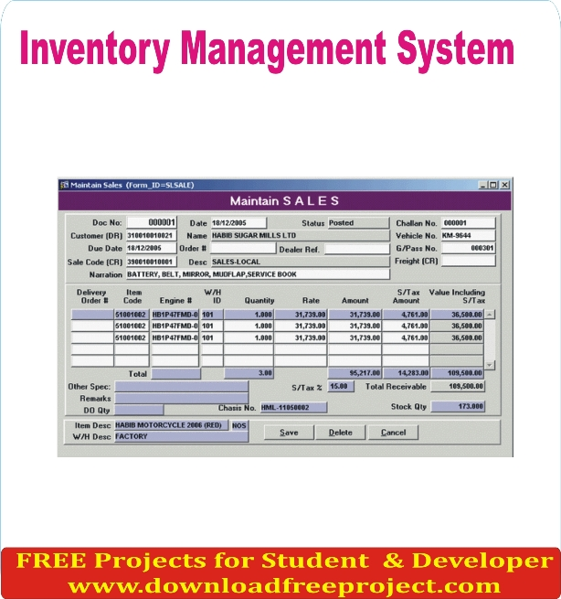 Free Inventory Management System In Asp.Net Projects Download