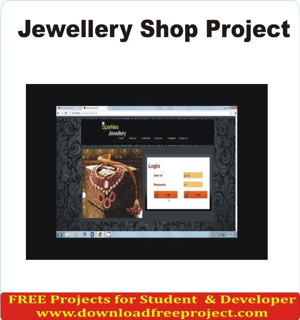 Free Jewellery Shop In PHP Projects Download