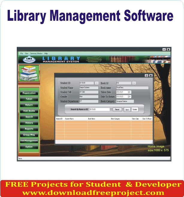 Free Library Lending Management Project In PHP Projects Download