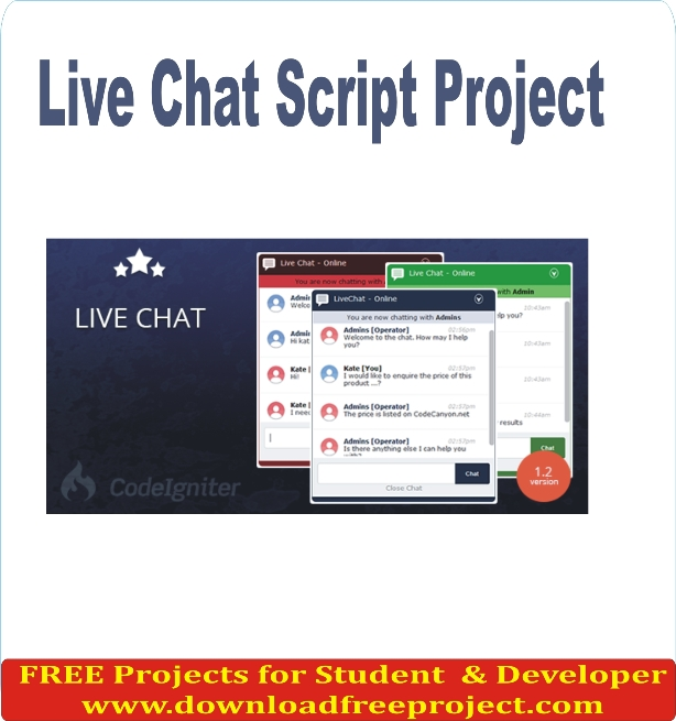 Free Live Chat Script Project In PHP Projects Download