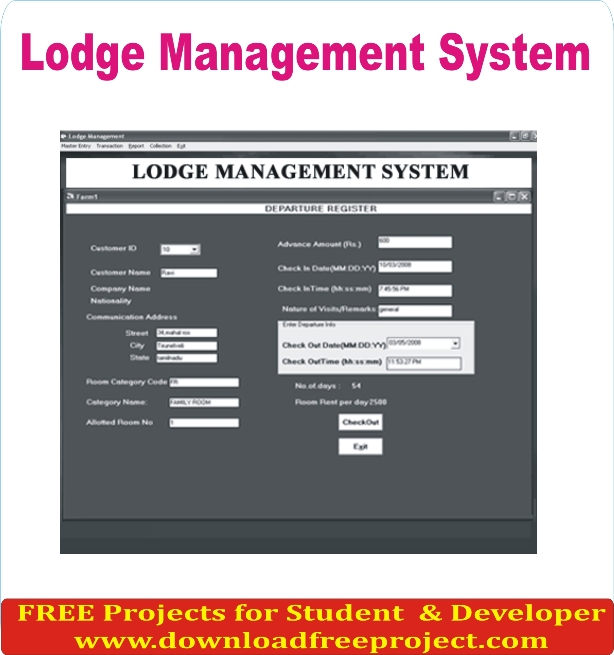 Free Lodge Management System In PHP Projects Download