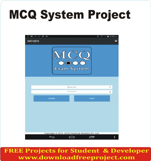 Free MCQ System In Asp.Net Projects Download