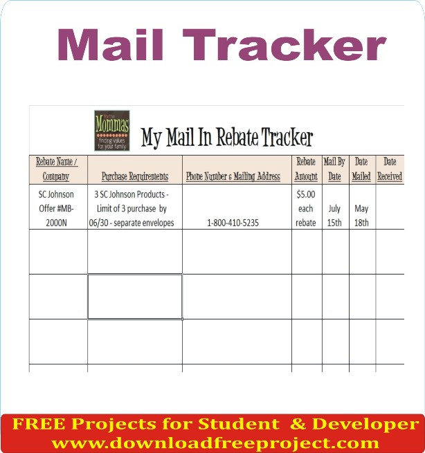 Mail Tracker, Free Mail Tracker In Java Projects Download