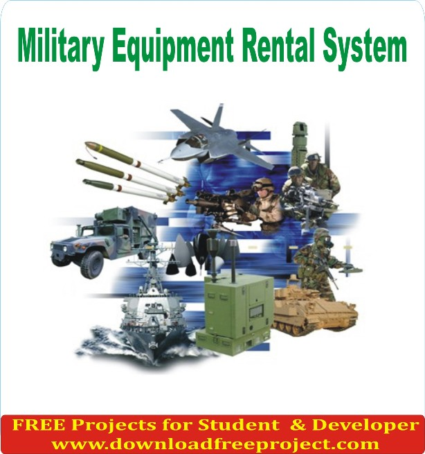 Free Military Equipment Rental System In Java Projects Download