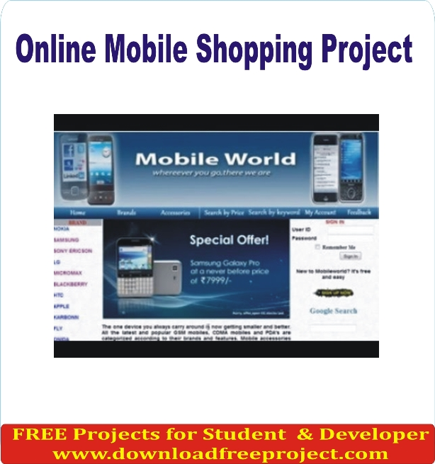 Free Mobile Shop System In Asp.Net Projects Download