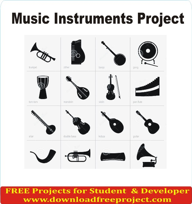 Free Music Instruments Project In PHP Projects Download