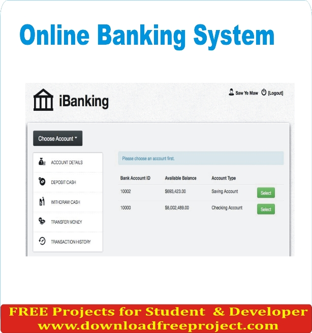 Free Net Banking System In PHP Projects Download