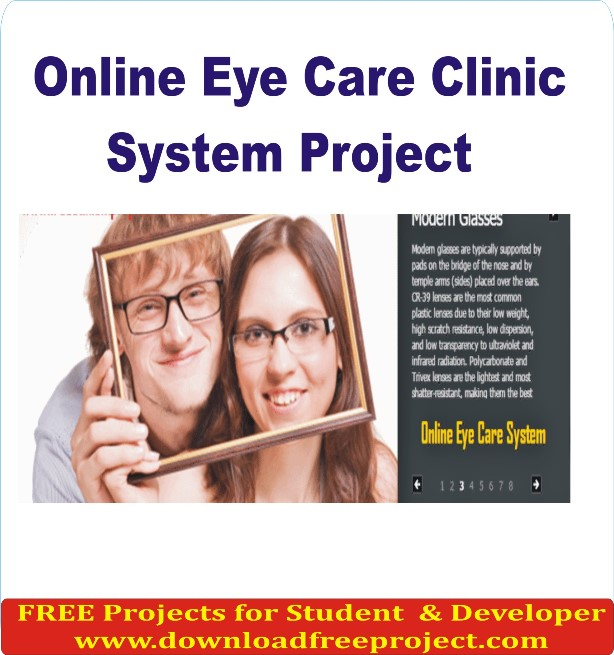 Free Online Eye Care Clinic System In PHP Projects Download