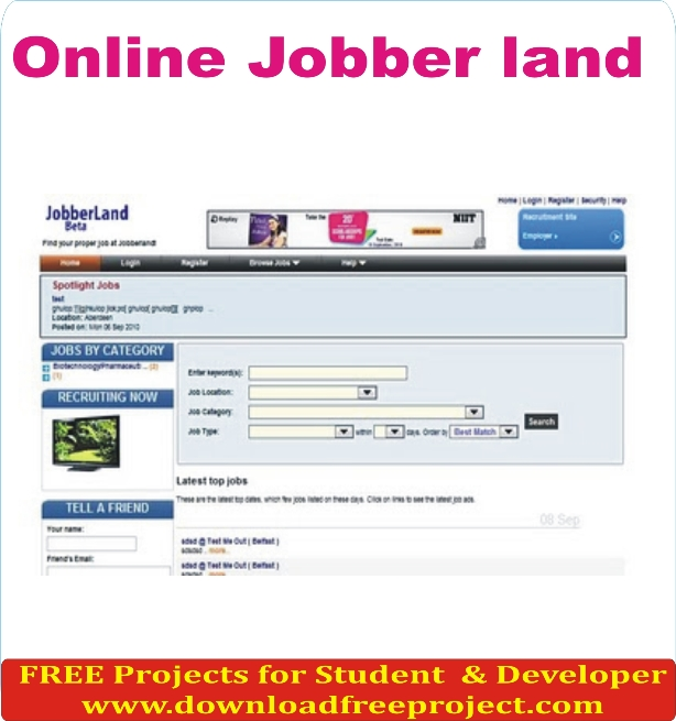 Free Online Jobber In PHP Projects Download