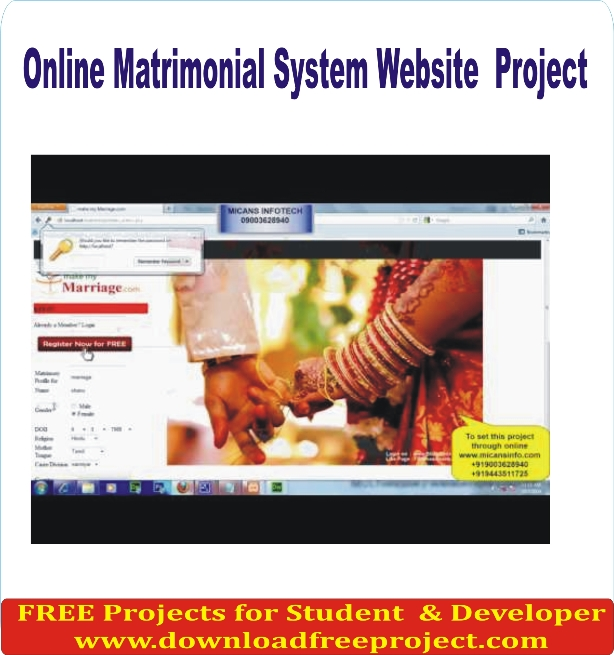 Free Online Matrimonial System Website In PHP Projects Download