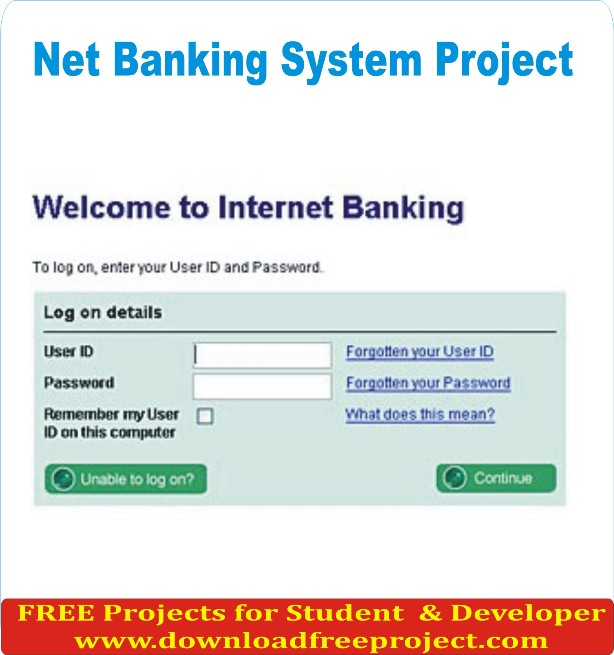 Free Online Net Banking In Java Projects Download