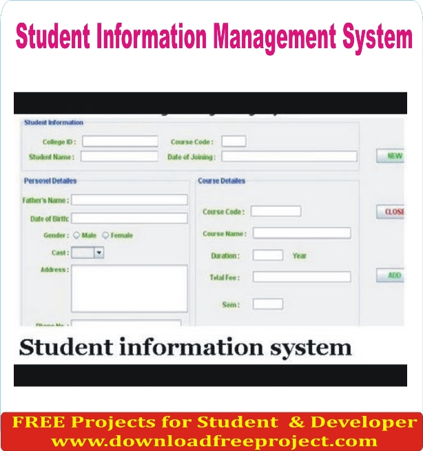 Free Online Student Information Management System In PHP Projects Download