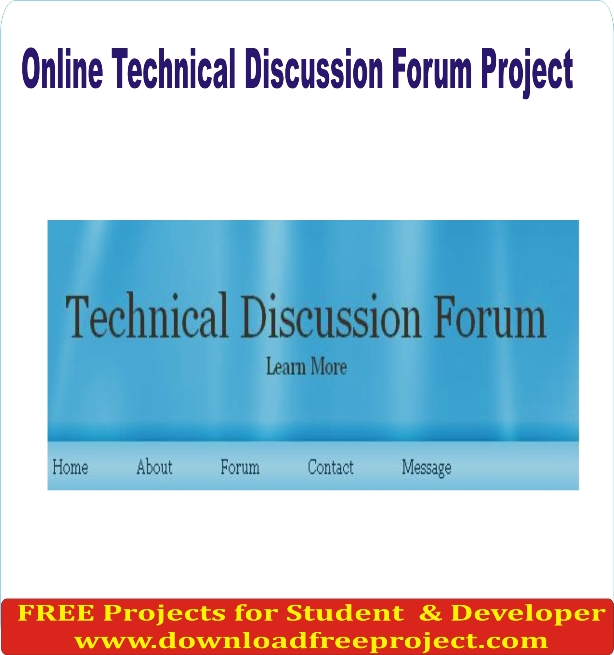 Free Online Technical Discussion Forum Project In PHP Projects Download