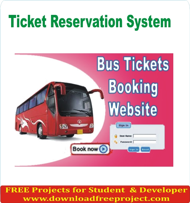 Free Online Ticket Reservation In PHP Projects Download