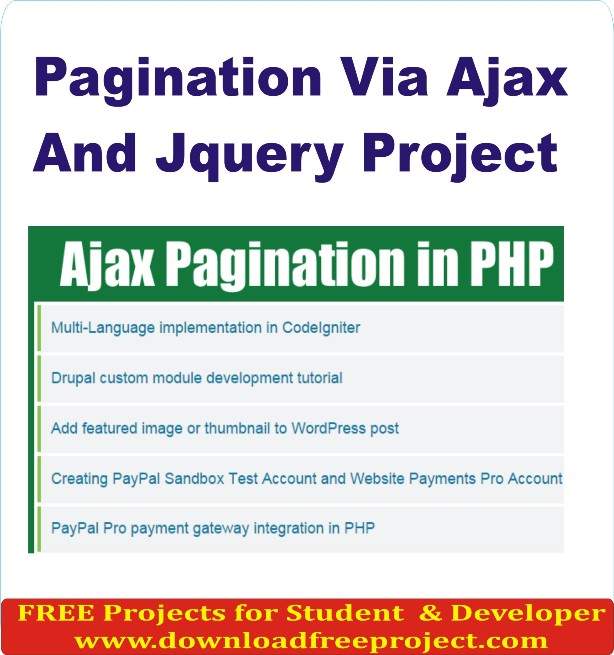 Free Pagination Via Ajax And Jquery In PHP Projects Download
