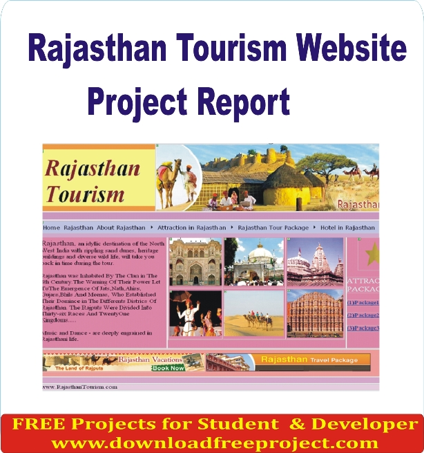 Free Rajasthan Tourism Website Project In PHP Projects Download