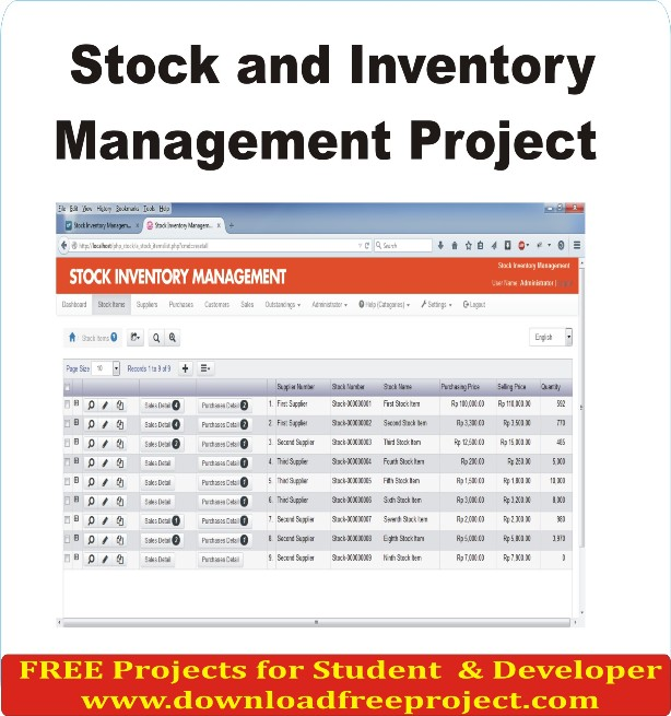 Free Stock and Inventory Management Project In PHP Projects Download