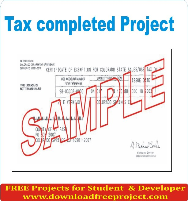 Free Tax completed In Asp.Net Projects Download