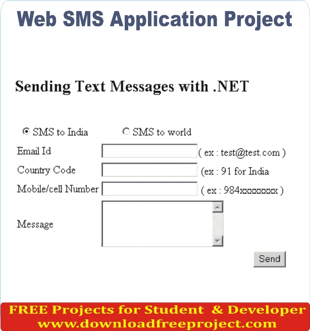 Free Web Sms Application In Asp.Net Projects Download