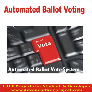Free Automated Ballot Voting In Asp.Net Projects Download