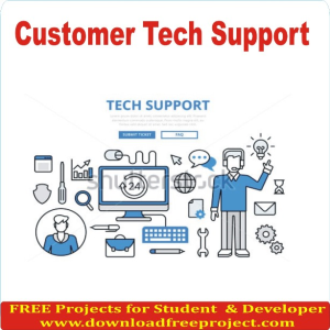 Free Customer Tech Support In Asp.Net Projects Download