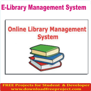 Free E Library Management System In PHP Projects Download