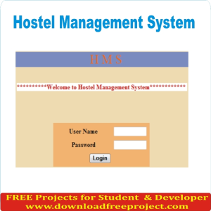 Free Hostel Management System In Asp.Net Projects Download