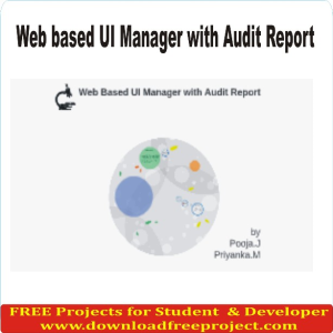 Web based UI Manager with Audit Report